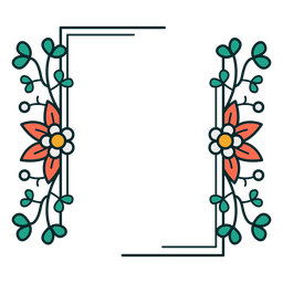 Ornament rectangle floral frame