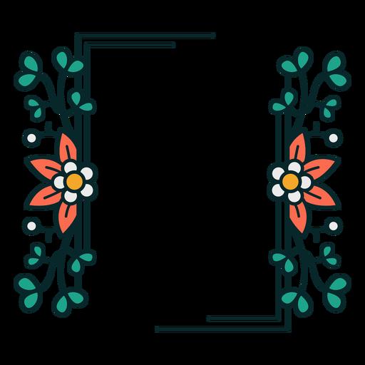 Ornament rectangle floral frame