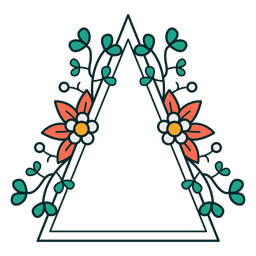 Adorno triángulo marco floral