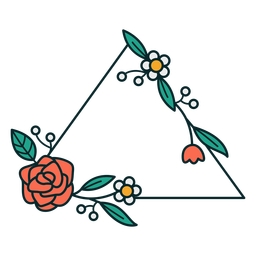 Marco triangular ornamento