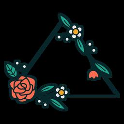 Ornament triangular frame