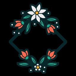 Marco de diamantes ornamentales