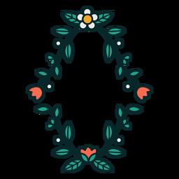 Moldura de diamante floral ornamental