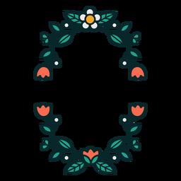 Ornamental rectangular floral frame