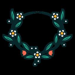 Marco floral ovalado