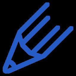 Icono de trazo de cabeza de lápiz