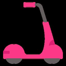 Vehículo scooter rosa plano