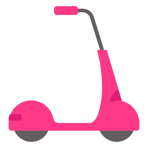 Pink scooter vehicle flat Transparent PNG