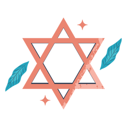 Ilustración rosa estrella de david