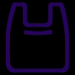 Icono de trazo de bolsa de plástico