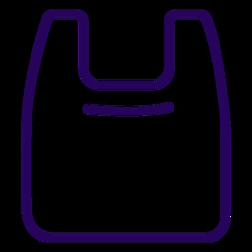 Ícone de traço de saco plástico Transparent PNG