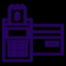Icono de trazo de lector de tarjetas pos