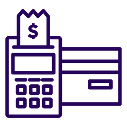 Pos card reader stroke icon