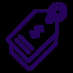 Icono de trazo de etiqueta de precio