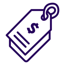 Price tag stroke icon