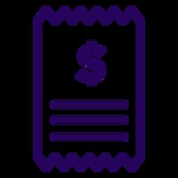 Icono de trazo de recibo