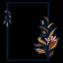 Marco floral rectangular