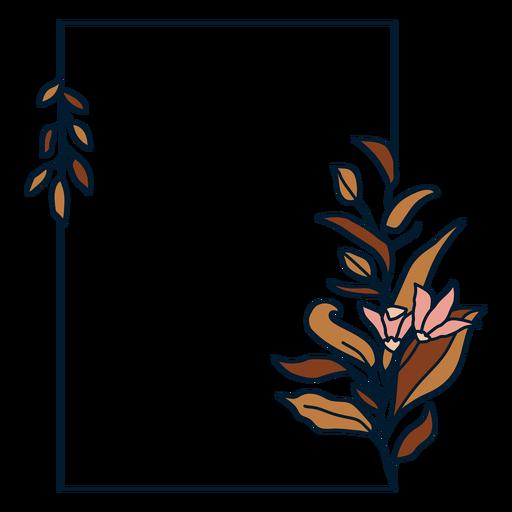 Rectangular floral frame Transparent PNG