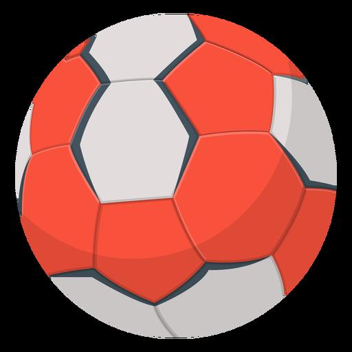 Ilustración de balonmano rojo