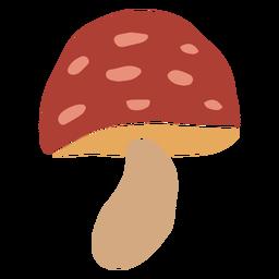 Cogumelo vermelho liso