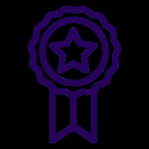 Ribbon stroke icon