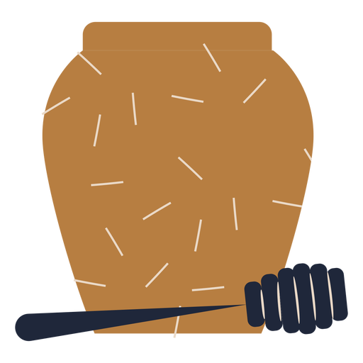 Rosh hashanah honey pot flat