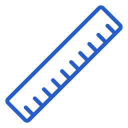 Ícone de traço de régua