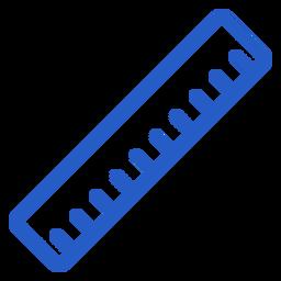 Icono de trazo de regla