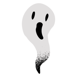 Scary ghost textured