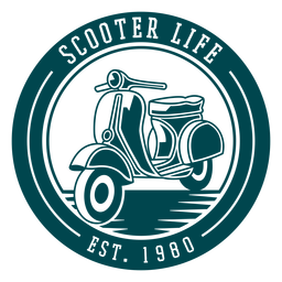 Scooter life badge