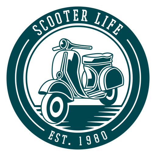 Scooter life badge Transparent PNG