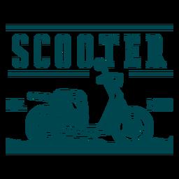 Insignia de vehículo scooter