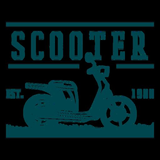 Insignia de veh?culo scooter