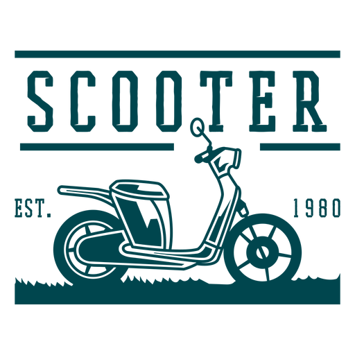 Scooter vehicle badge