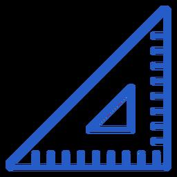 Set square stroke icon