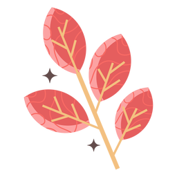 Brilhante ramo plano