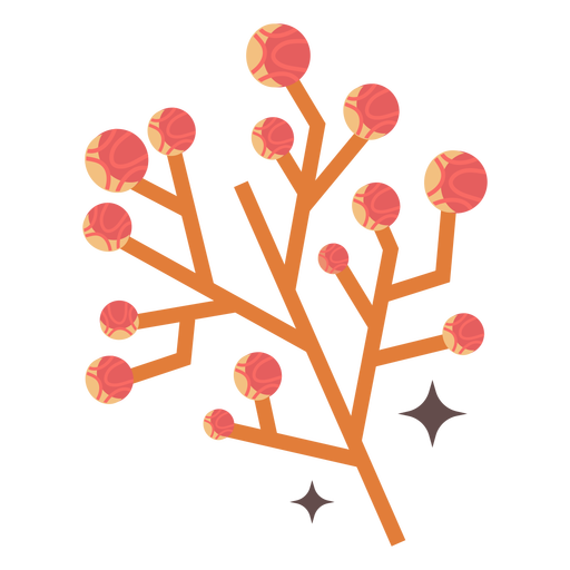 Shiny flower buds flat