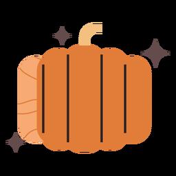 Shiny pumpkin flat