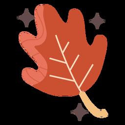 Folha vermelha brilhante plana