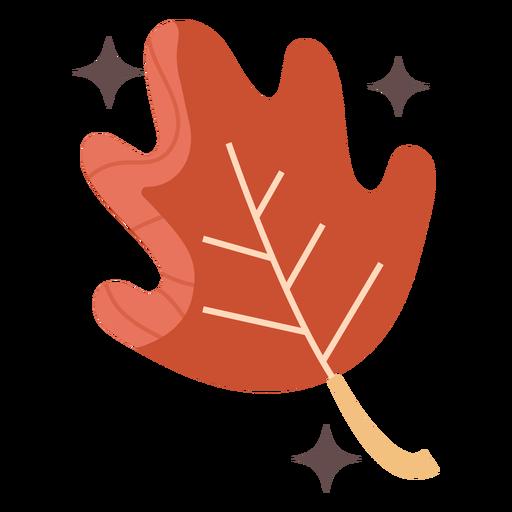 Shiny red leaf flat Transparent PNG