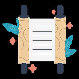 Ilustração de pergaminho brilhante