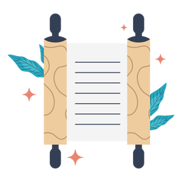 Shiny scroll illustration