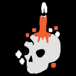 Shiny skull candle flat