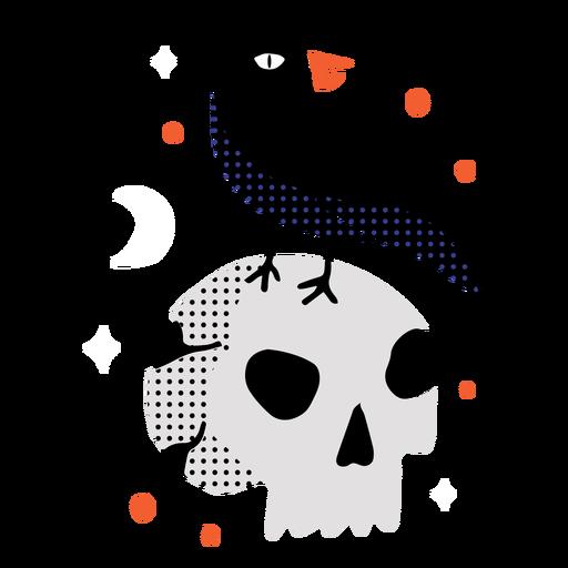Shiny skull crow flat