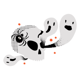 Shiny skull ghosts flat