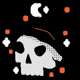 Shiny skull hat flat