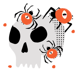 Shiny skull spiders flat