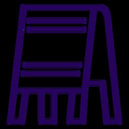 Icono de trazo de signo de tienda