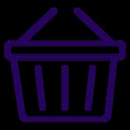Ícone de traçado de cesta de compras