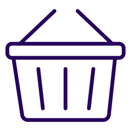 Shopping basket stroke icon